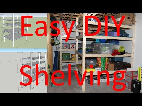 How to Build Storage Shelving - Easy DIY - Plans Included