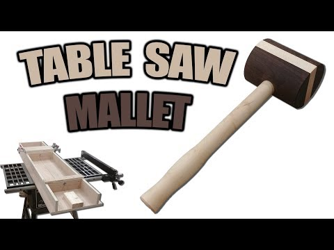 How to Build a Wooden Mallet on a Table Saw Lathe