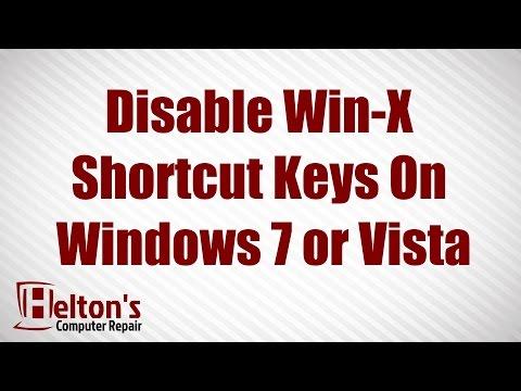 Disable Win-X Shortcut Keys on Windows 7 or Vista