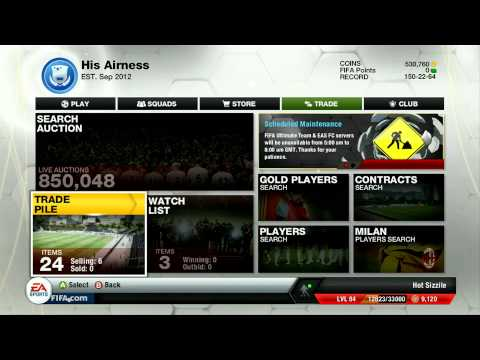 FIFA 13 Ultimate Team - Trading Tip - Selling Over Night