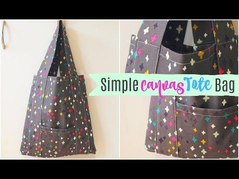 TUTORIAL   Simple Canvas Tote Bag