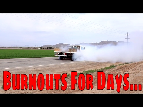 Monster Turbo LS Sleeper Truck Burnouts and Anti Lag!