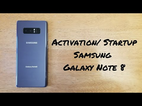 Note 8 startup / activation