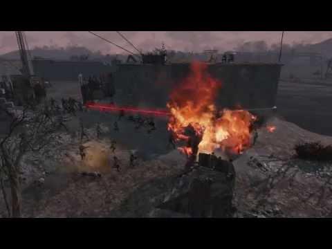 Fallout 4 - Defend the Castle HUGE NPC Battle!