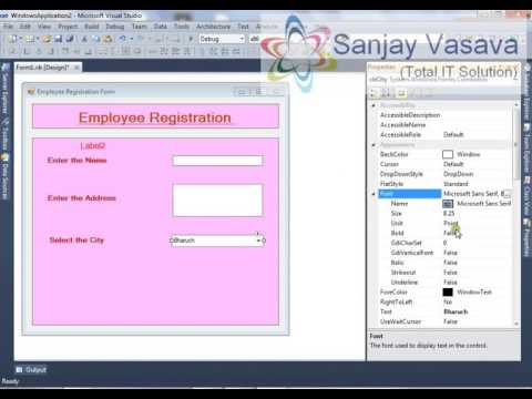How to Create the Employee Registration Form using the TextBox,Combobox, RadioButton in Vb.Net