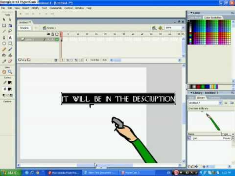 Part 3: How To Make A Basic Shooting Game On Macromedia Flash 8