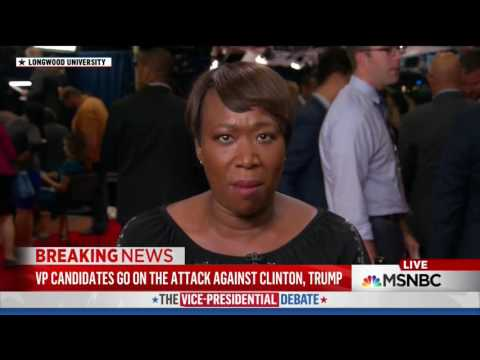 MSNBC's Reid: Kaine's Interruptions Didn't Help Him, Was Rude To The Moderator