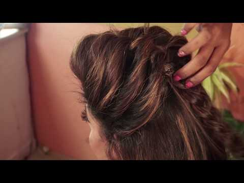 French Roll Messy Bun With Side Braids & Curly back | Special Hairstyle