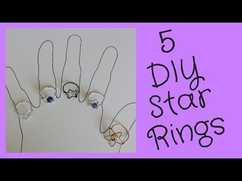 5 DIY Rings Easy: How to Make Star Rings Tutorial