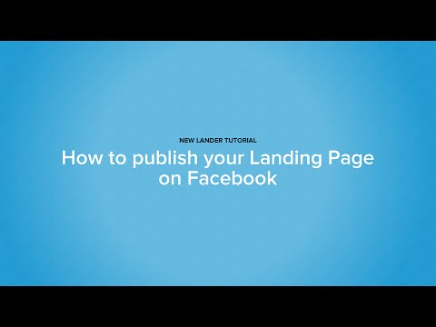 Create a Facebook Tab in minutes with Lander