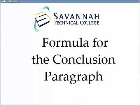 Conclusion Paragraphs: A Simple Formula for Academic Essays