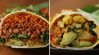 How To Make Meatless Burritos With Tofu And Cauliflower • Tasty