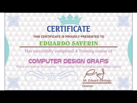 Corel draw Tutorials - Certificate Designs (a training course)
