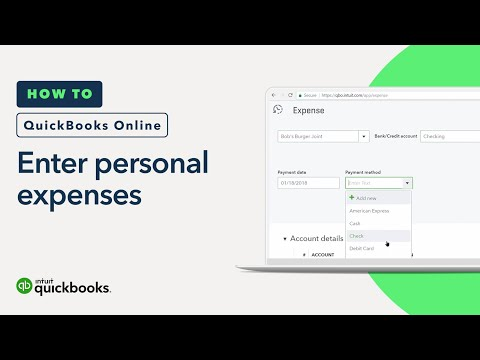 How to Enter Personal Expenses: Paying with Company Funds   QuickBooks Online Tutorial 2018