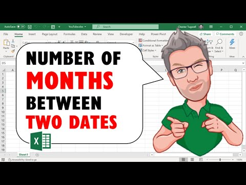 Calculate the Number of Months Between 2 Dates in Excel