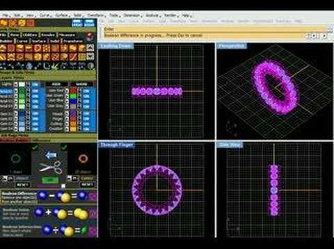 Eternity Ring Precision Design by Diamond Design Co., SF CA