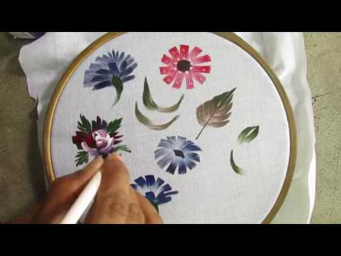 Fabric Painting Floral Technique /Fabric Painting Course part 18 of 25