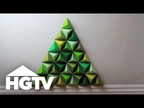Geometric Paper Christmas Tree