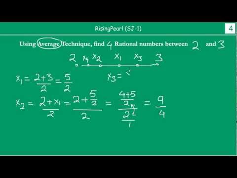 Finding out Rational numbers between two Rational numbers using Average-method (2 of 3)