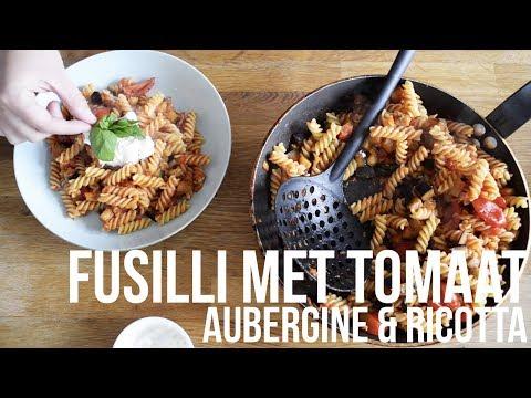 Fusilli met aubergine en tomaat | OhMyFoodness