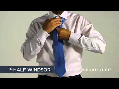 How To Tie A Tie - Double Windsor & Half Windsor Knot Video | Men's Wearhouse