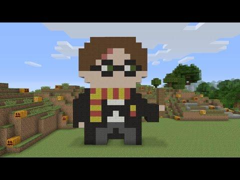 Minecraft Pixel Art - Harry Potter