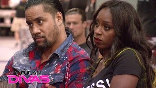 The Superstars express their nervousness before the WWE Brand Extension: Total Divas, Jan. 25, 201..