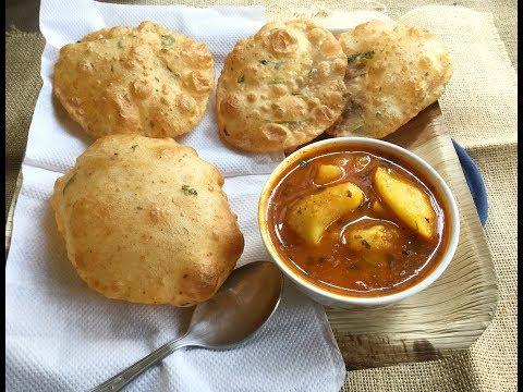 Masala Aloo Puri | Aloo Kachori | Potatoes Stuffed Fried Puffed Bread | Indian Breakfast Recipe #307
