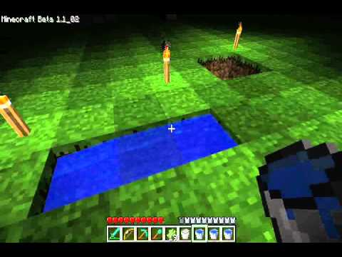 Minecraft Tutorial - Infinite Water Source