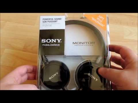 Sony MDR-ZX100 (Black) Headphone Review, Unboxing & Specs