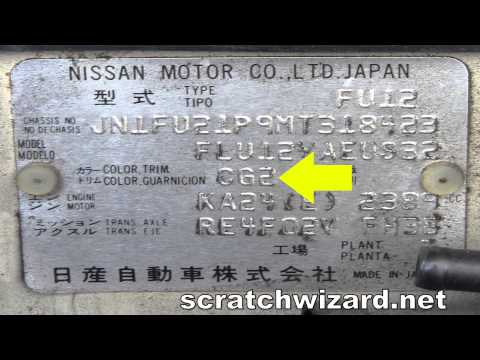 How to find your Nissan paint code.