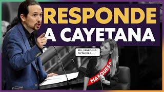 Pablo Iglesias responde a la MARQUESA Cayetana Álvarez de Toledo