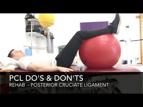 Posterior Cruciate Ligament PCL Rehab -  Do's & Don'ts (Tear/Torn/Rupture)