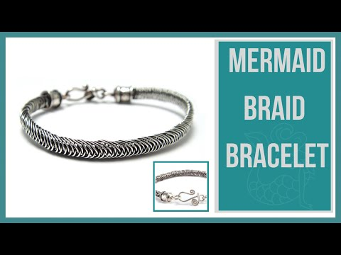 Mermaid Wire Braid Bracelet Tutorial - Beaducation.com