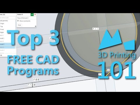 Best FREE CAD Programs for 3D Printing - 2015