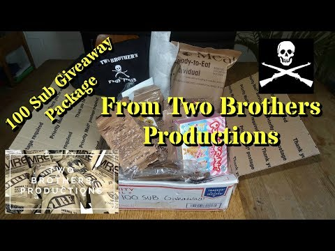 Unboxing: 100 Sub Giveaway Package from Two Brothers Productions!
