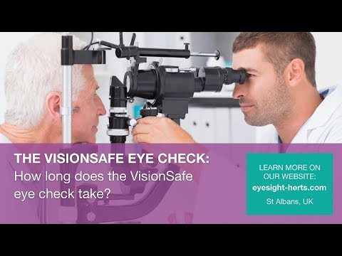 How long does a VisionSafe Eye Check take?