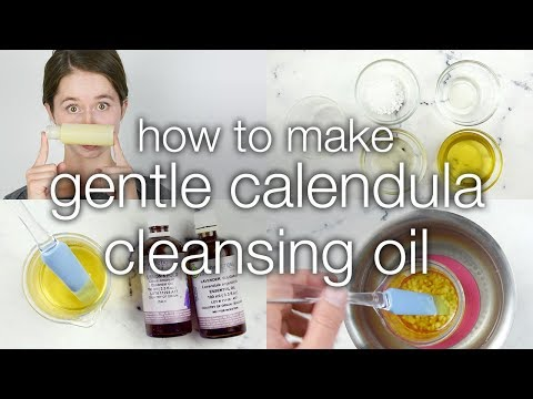 How to Make Gentle Calendula Cleansing Oil