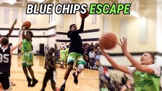 Bronny James & Rodney Gallagher Are PLAYMAKERS! Blue Chips Win CLOSE GAME At Dru Joyce Classic 🔥