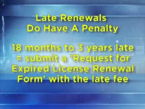 Late License Renewals from TDLR