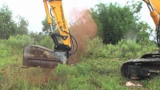 Excavator mulchers - Land clearing equipment - Forestry mulcher - DENISCIMAF.com