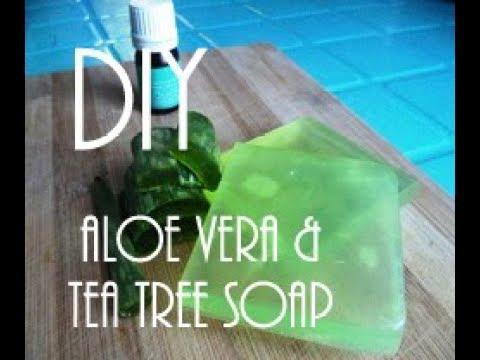 DIY Aloe Vera & Tea Tree Soap (Anti-Acne & Pimple Scar Remover)