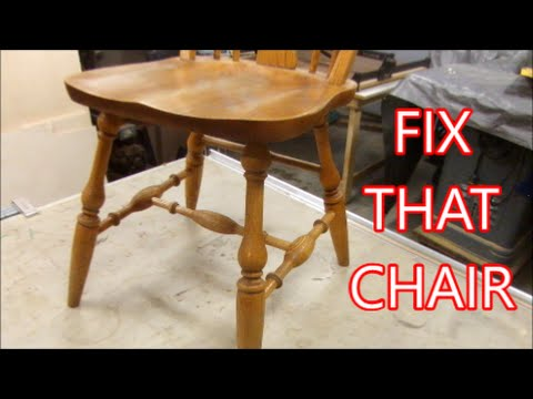 Kitchen Chair Repair - How To Make Replacement Parts