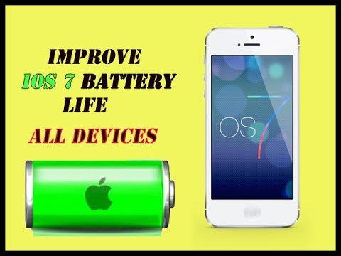 Improve iOS 7 Battery Life Oct. 2013 iPhone 5S, 5C, 5, iPad Mini, iPad 3, 4