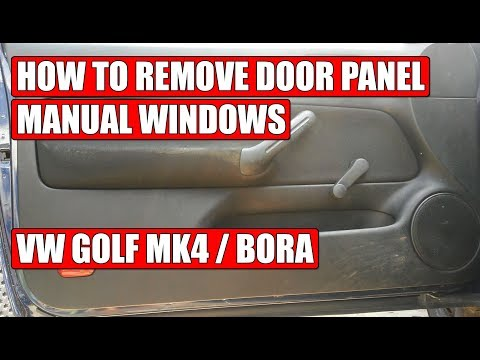 How to remove door panel (manual windows) VW Golf Mk4, Bora, Jetta