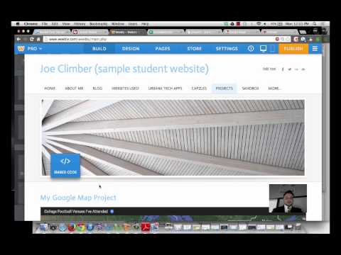 Embedding Google Maps into Weebly Websites