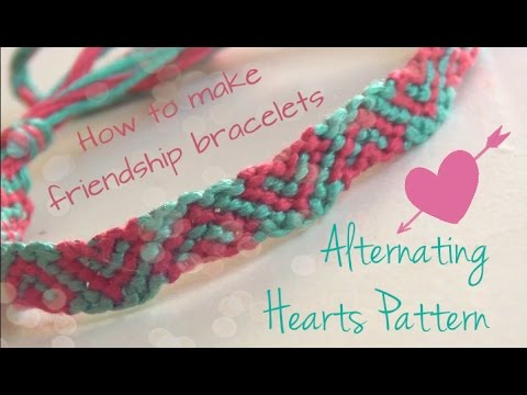Alternating Hearts Pattern ♥ How To Make Friendship Bracelets