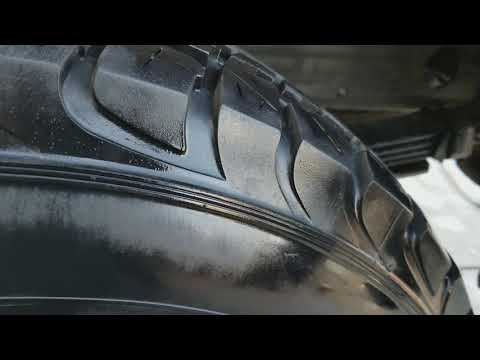 Cleaning overspray off of tires the fast and easy way