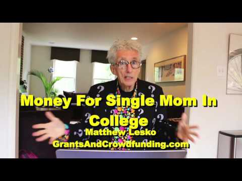 How A Single Mom In College Can Get Money To Pay For It All