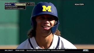 Download Highlights: Michigan One Win Away from College World Series Title | B1G Baseball Video